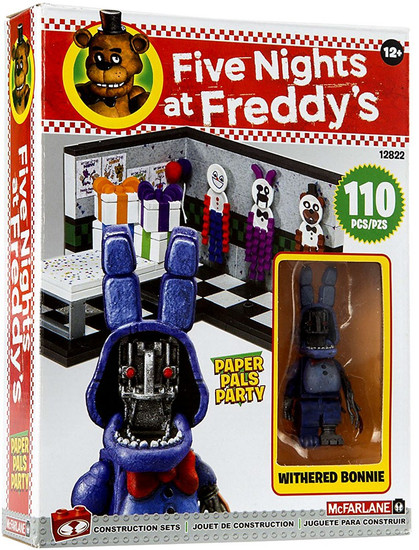 McFarlane Toys Five Nights at Freddy's Paper Pals Party Small Construction Set [Withered Bonnie]