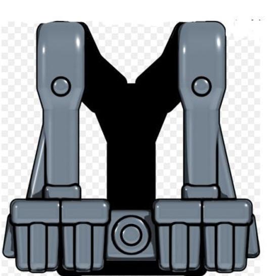 BrickArms Combat Vest WW2 German Rifleman 2.5-Inch [Dark Gray]
