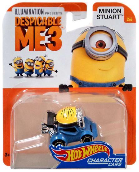 Hot Wheels Despicable Me 3 Minion Stuart Diecast Character Car #2/6