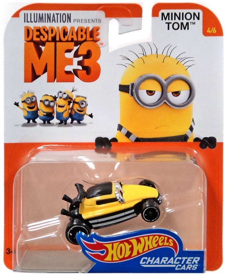 Hot Wheels Despicable Me 3 Minion Tom Diecast Character Car #4/6