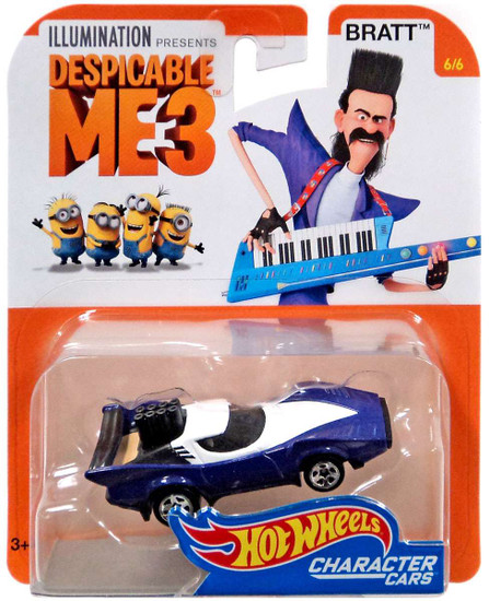 Hot Wheels Despicable Me 3 Bratt Diecast Character Car #6/6