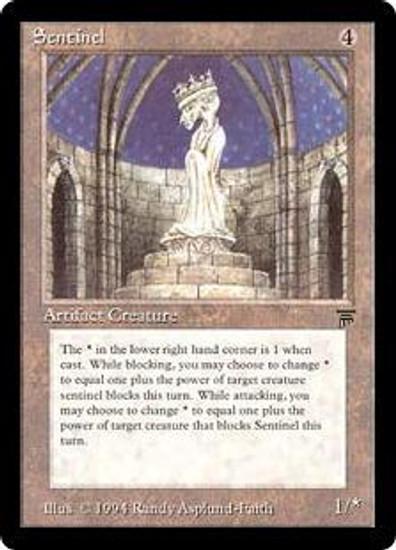 MtG Legends Rare Sentinel [Played]