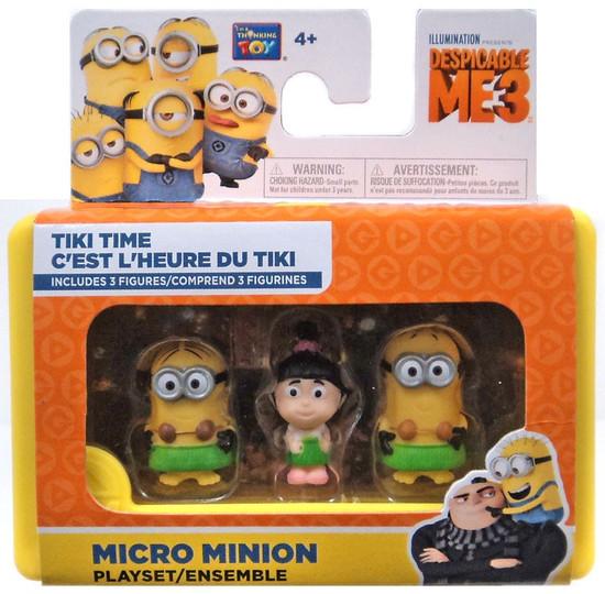 Despicable Me Minions Movie Tiki Time 2-Inch Micro Playset