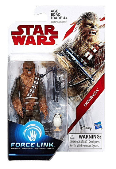 Star Wars The Last Jedi Force Link Teal Series Wave 1 Chewbacca Action Figure