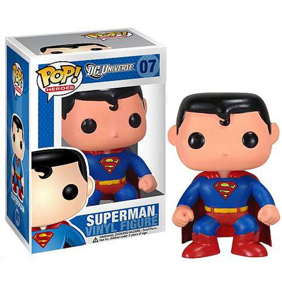Funko DC Universe POP! Heroes Superman Vinyl Figure #07 [DC Universe, Damaged Package]