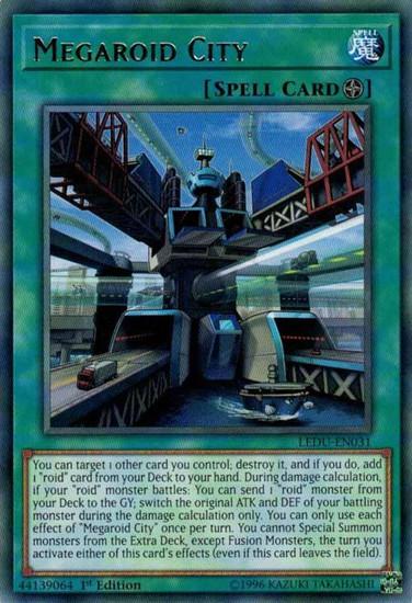 YuGiOh Legendary Duelists Rare Megaroid City LEDU-EN031
