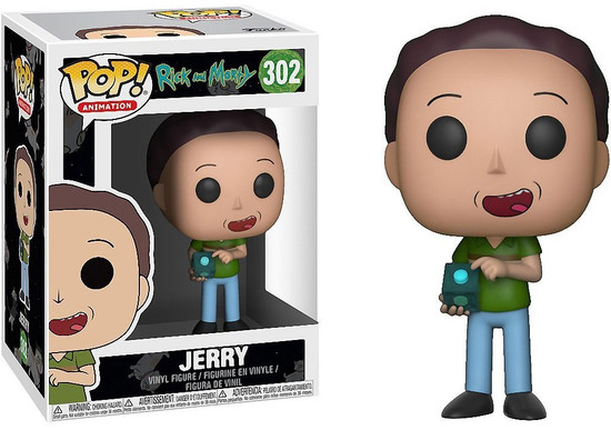 Funko Rick & Morty POP! Animation Jerry Vinyl Figure #302