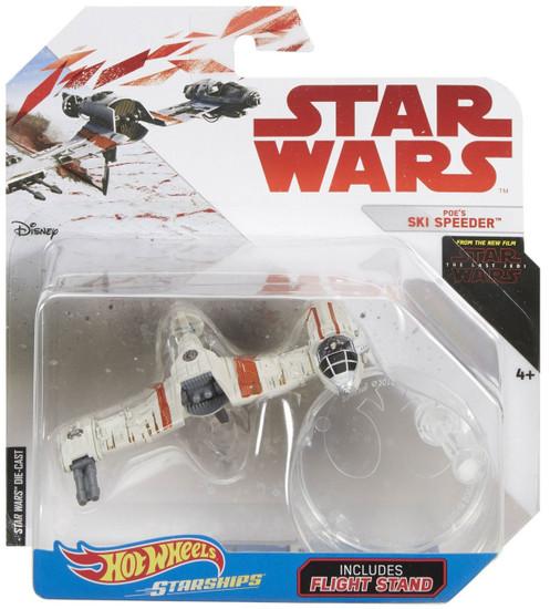 Hot Wheels Star Wars Starships Poe's Ski Speeder Diecast Car