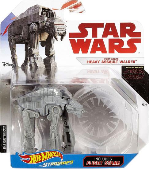 Hot Wheels Star Wars Starships First Order Heavy Assault Walker Diecast Car