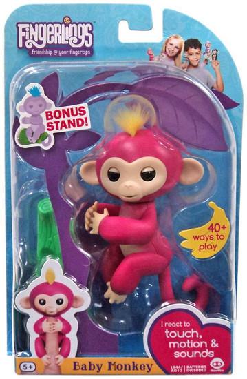 Fingerlings Baby Monkey Bella Figure [with Bonus Stand]