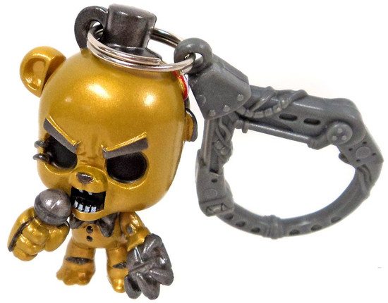 Five Nights at Freddy's FNAF Hangers Series 1 Metallic Golden Freddy Collector Clip [Loose]