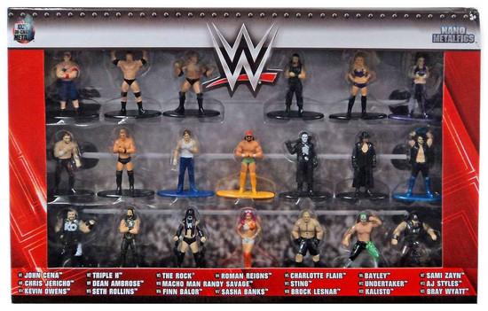 WWE Wrestling Nano Metalfigs WWE Exclusive 1.5-Inch Diecast Figure 20-Pack [Version 1]