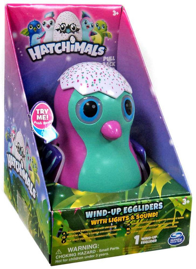 Hatchimals Pink Penguala Egglider 4-Inch Wind-Up Figure [with Lights & Sounds]