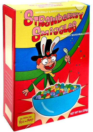 Rick & Morty Strawberry Smiggles Exclusive Breakfast Cereal