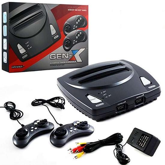 Retro-Bit GEN-X Hybrid Twin Console [For Genesis & NES Games]