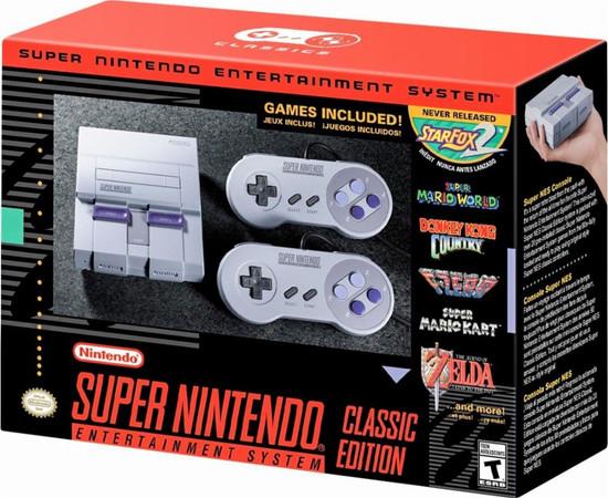 SNES Super Nintendo Classic Edition Video Game Console