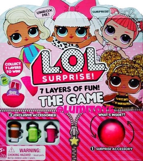 LOL Surprise 7 Layers Of Fun The Game Board Game [RANDOM Box]