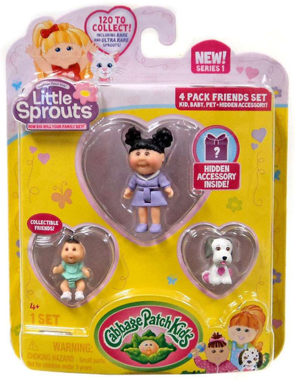 Cabbage Patch Kids Little Sprouts Morgan Paisley Mini Figure 4-Pack