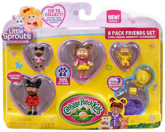 Cabbage Patch Kids Little Sprouts Paula Jean Mini Figure 8-Pack