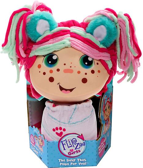 FlipZee! Girls Zoey Snuggly Bear Plush Doll [Caucasian]