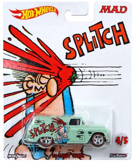 Hot Wheels MAD '55 Chevy Panel Diecast Car #4/5 [Splitch]