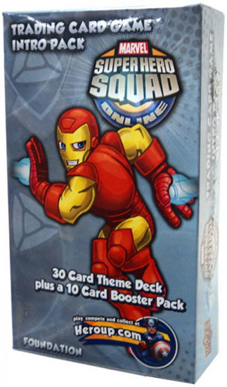 Marvel Trading Card Game Superhero Squad Online Iron Man Intro Pack