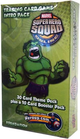 Marvel Trading Card Game Superhero Squad Online Hulk Intro Pack