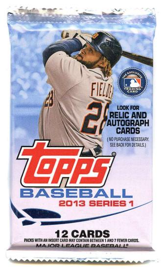 MLB Topps 2013 Series 1 Baseball Trading Card Pack [12 Cards!]