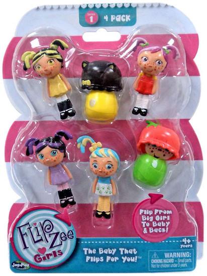 FlipZee! FlipZee Girls! Series 1 Mini Figure 4-Pack [Style 1]
