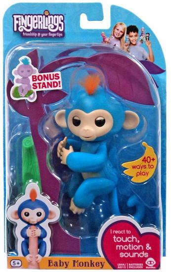 Fingerlings Baby Monkey Boris Figure [with Bonus Stand]