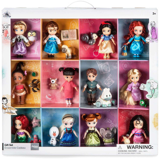Disney 2017 Animators Collection Exclusive Mini Doll 12-Piece Gift Set