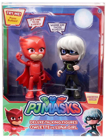 Disney Junior PJ Masks Owlette & Luna Girl Exclusive Talking Action Figure 2-Pack