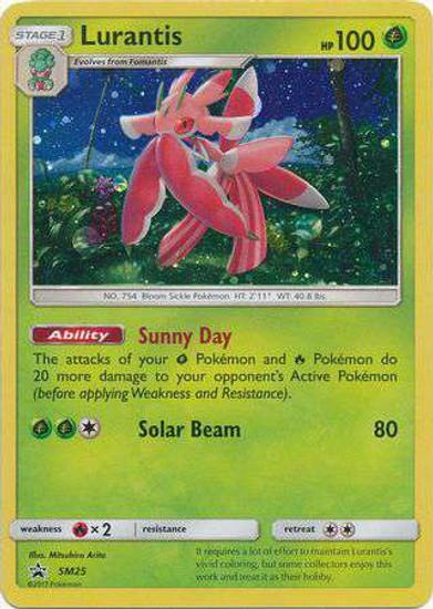 Pokemon Sun & Moon Promo Holo Rare Lurantis SM25