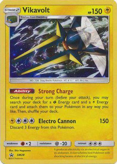 Pokemon Sun & Moon Promo Holo Rare Vikavolt SM28