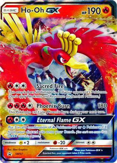 Pokemon Sun & Moon Promo Ultra Rare Ho-Oh GX SM57