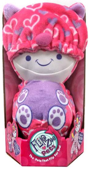 FlipZee! Pets Pink Hearts Cat Plush Doll