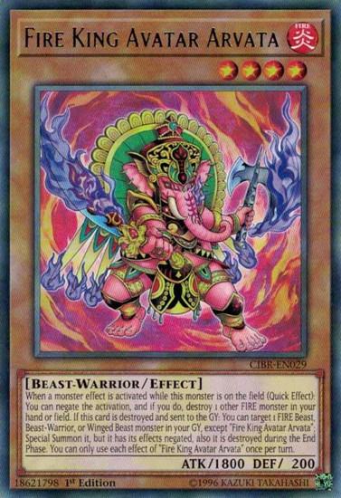 YuGiOh Circuit Break Rare Fire King Avatar Arvata CIBR-EN029