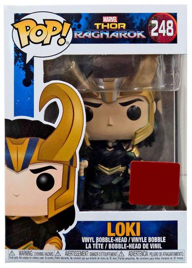 Funko Thor: Ragnarok POP! Marvel Loki Exclusive Vinyl Bobble Head #248 [with Helmet]