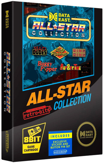 NES Data East All Star Collection Video Game Cartridge [5 Games]