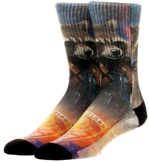 Marvel Guardians of the Galaxy Vol. 2 Rocket Raccoon Crew Socks