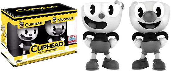 Funko POP! Games Cuphead & Mugman Exclusive Vinyl Figure 2-Pack [Black & White]