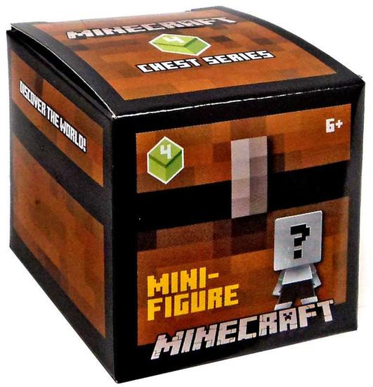 Minecraft Chest Series 4 (Green) Mystery Pack [1 RANDOM Figure]