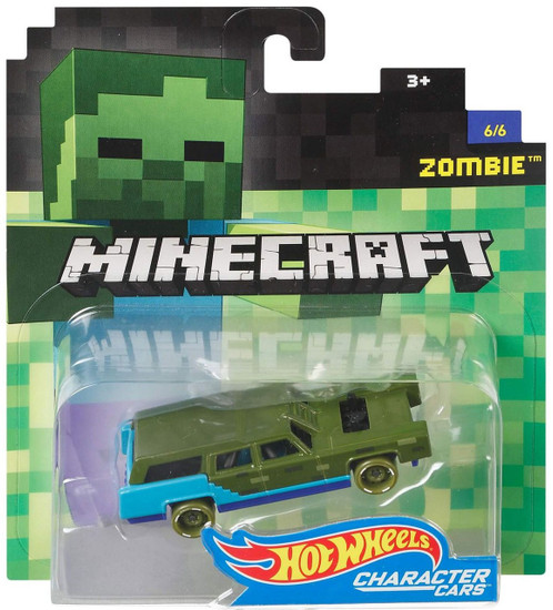 Hot Wheels Minecraft Character Cars Zombie Diecast Character Car #6/6 [2017]