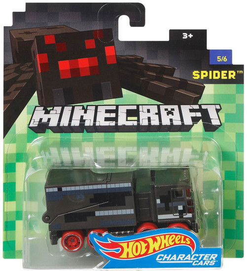 Hot Wheels Minecraft Character Cars Spider Diecast Character Car #5/6 [2017]