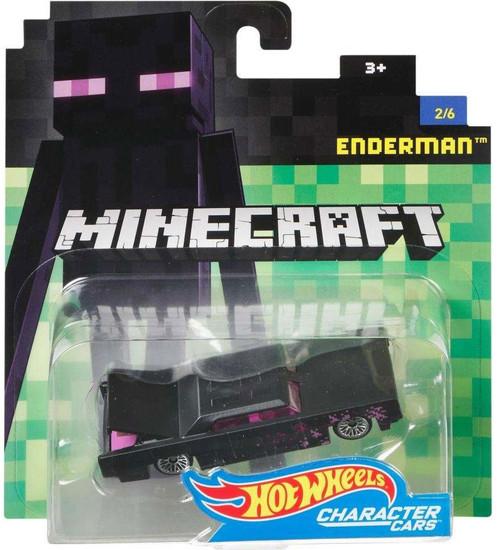 Hot Wheels Minecraft Character Cars Enderman Diecast Character Car #2/6 [2017]