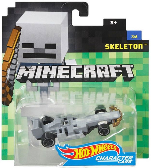Hot Wheels Minecraft Character Cars Skeleton Diecast Character Car #3/6 [2017]
