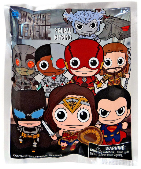 DC 3D Figural Keyring Justice League Movie Mystery Pack [1 RANDOM Figure]