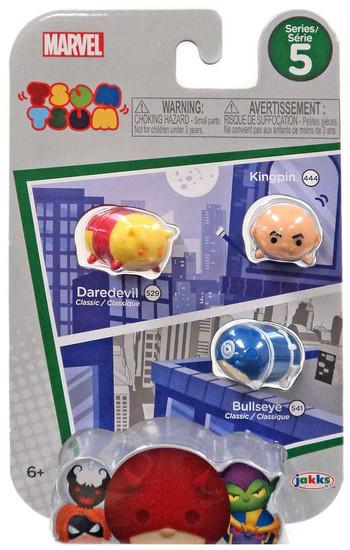 Marvel Tsum Tsum Series 5 Kingpin, Daredevil & Bullseye 1-Inch Minifigure 3-Pack #444, 529 & 541