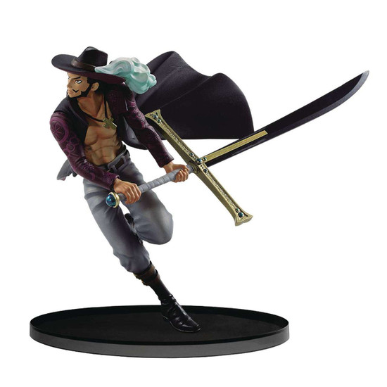 One Piece World Figure Colosseum Dracule Mihawk 6.7-Inch Collectible PVC Figure
