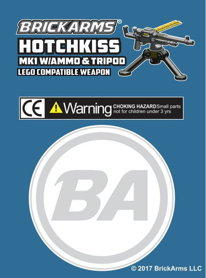 BrickArms M1909 Hotchkiss Mk1 with Ammo & Tripod 2.5-Inch